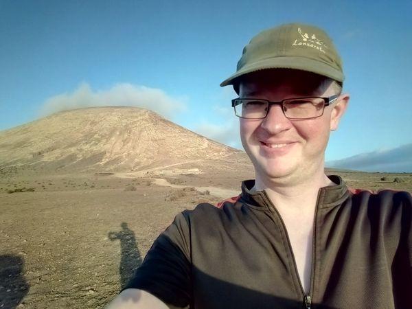 Morning walk up Montaña Blanca in Lanzarote
